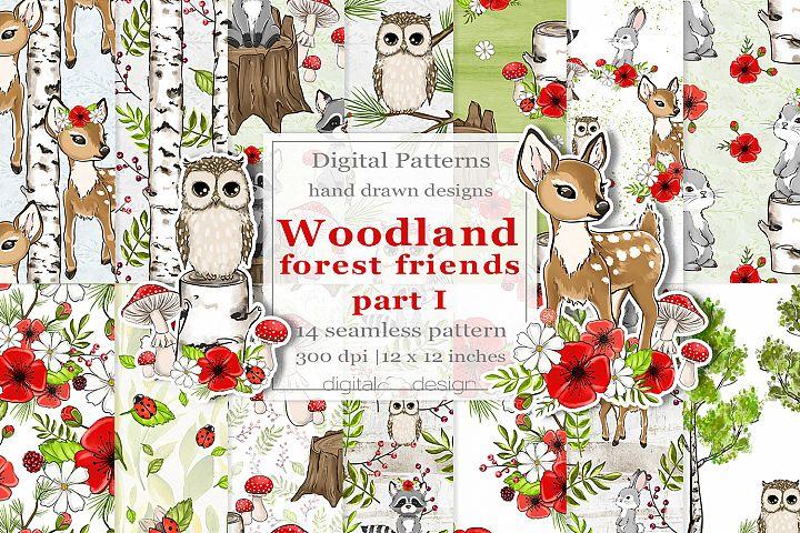 Woodland Forest Friends part 1 - Digital Pattern