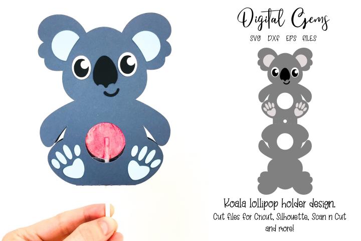 Koala lollipop holder design SVG / DXF / EPS files