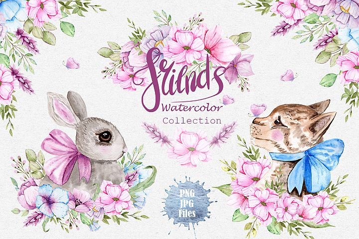 Watercolor Friends Collection