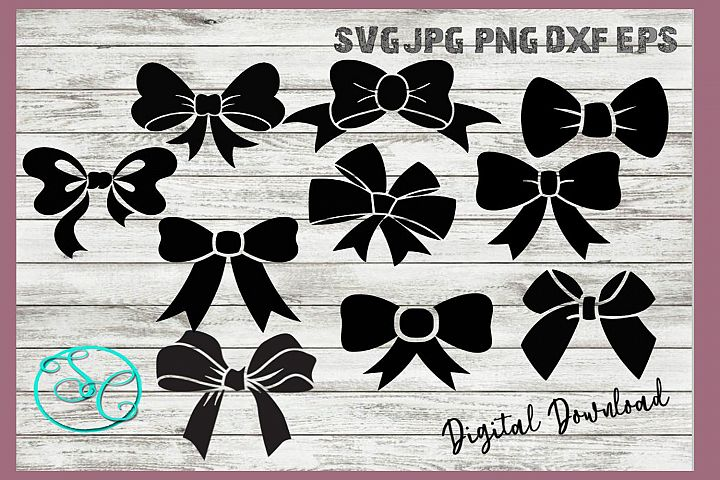 Hair Bows Gift Bows SVG