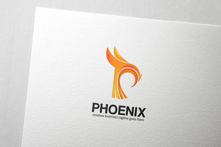 Phoenix Letter P Logo