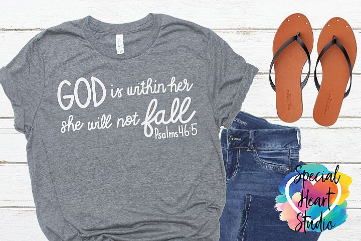 God is within her - A Christian, Bible Verse SVG Cut file