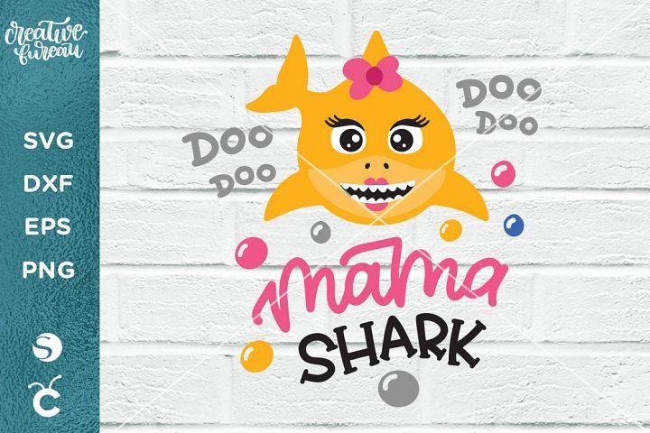 Mama Shark SVG DXF, Mother Shark SVG, Shark Family SVG