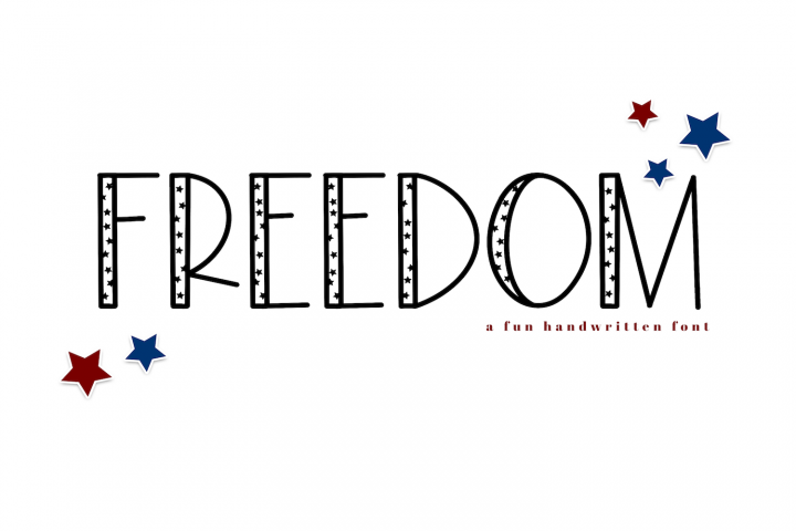 Freedom - A Fun Patriotic Font