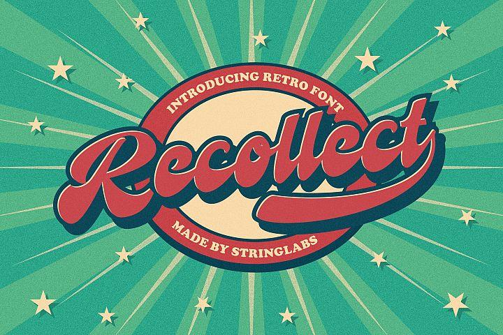 Recollet - Bold Script Retro Font