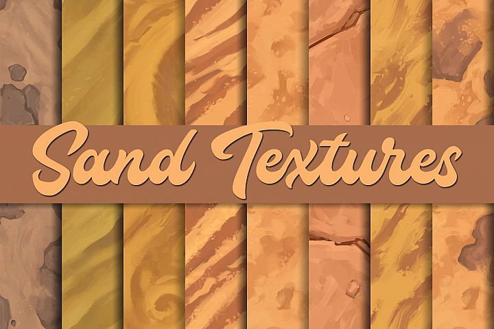Hand-painted sand textures |Tileable