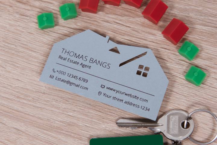 Real estate business card template cutting file