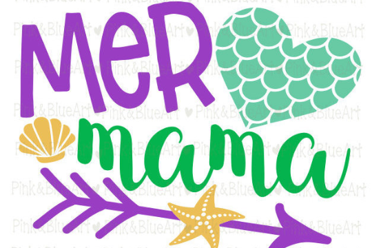 MER MAMA mermaid svg shirt design summer