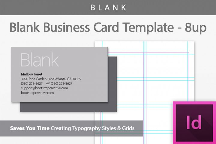 blank business card indesign template bootstrapcreative templates business cards - Template For Business Cards