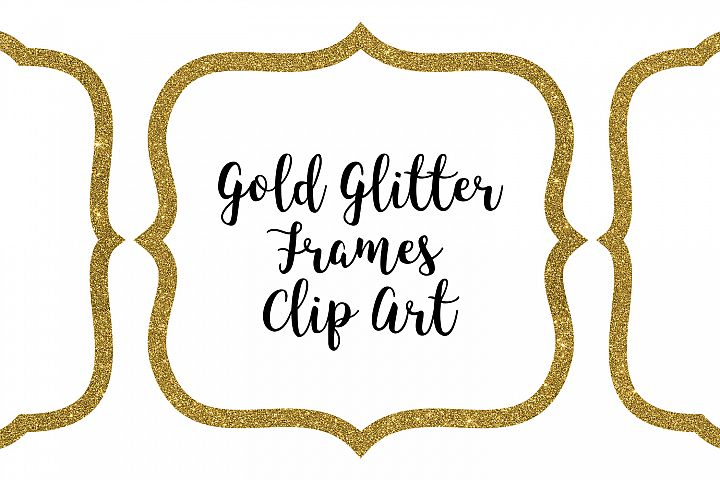 Gold Glitter Frames Clip Art