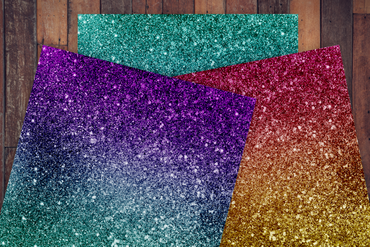 Ombre Glitter Digital Paper - Free Design of The Week Design 1