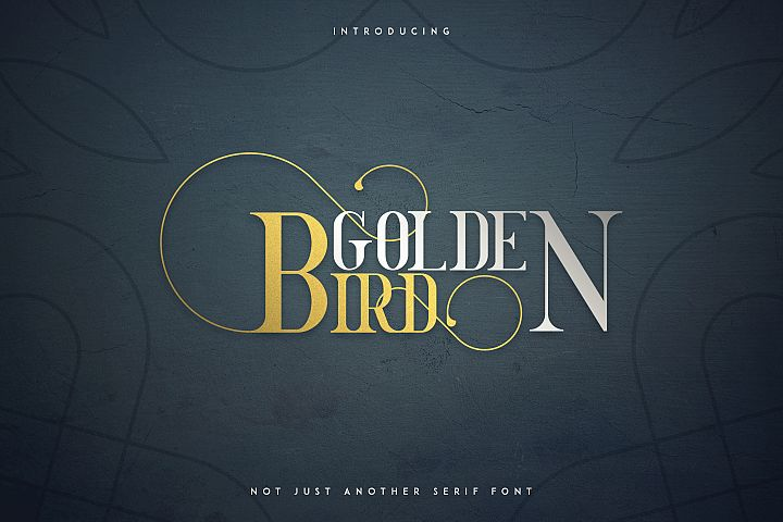 Golden Bird Serif font Cool Extras