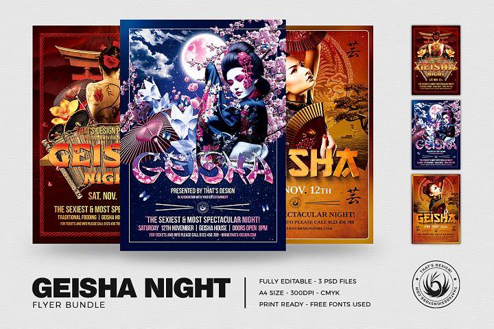 Geisha Night Flyer Bundle