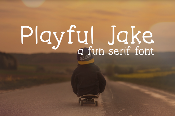 Playful Jake Font example