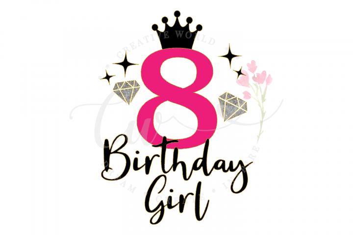 8th Birthday svg | My 8th Birthday svg | Princess Diva