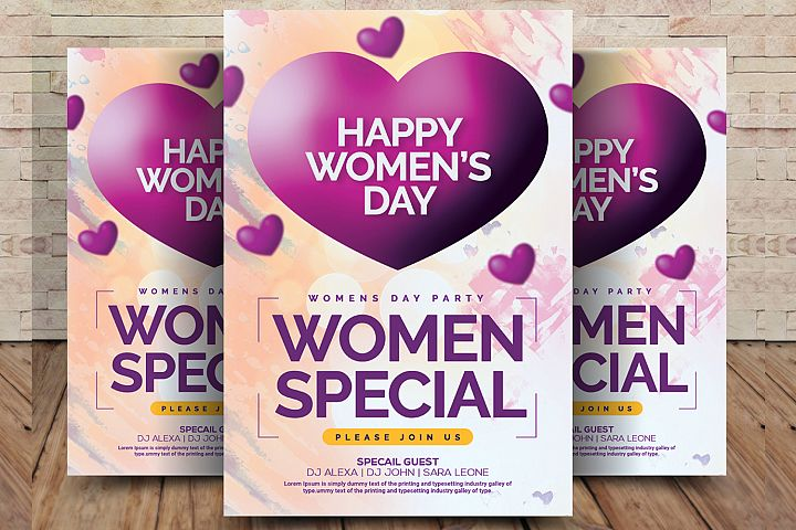 Happy Womens Day Flyer