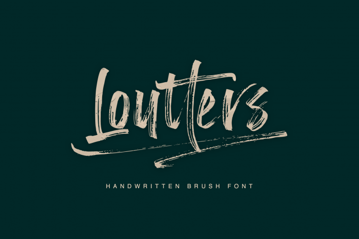 Loutters | Handwritten Brush Font