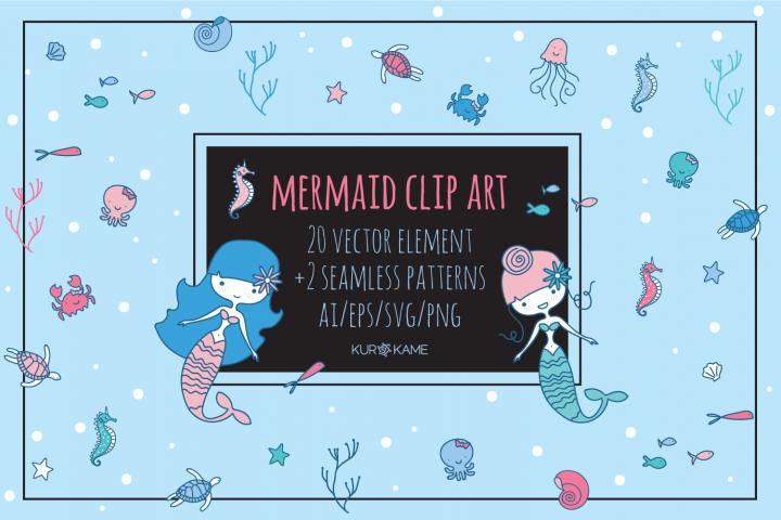 Mermaid Clip Art example