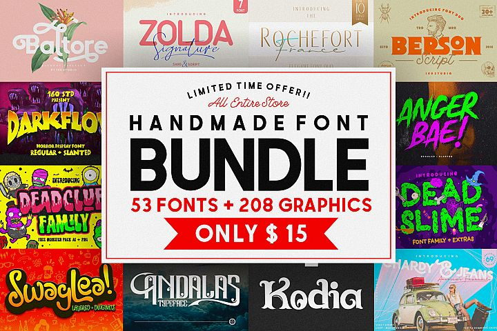 160 Studio Font Bundles