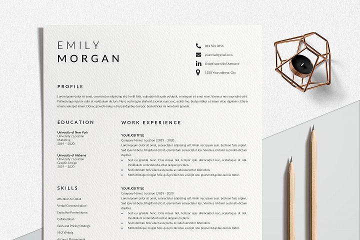 Professional Resume Design   CV Template Word