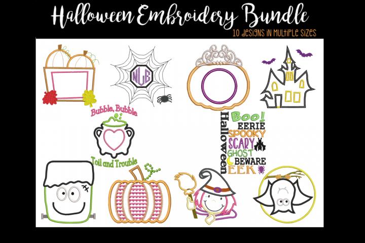 Halloween Bundle Applique Embroidery Designs
