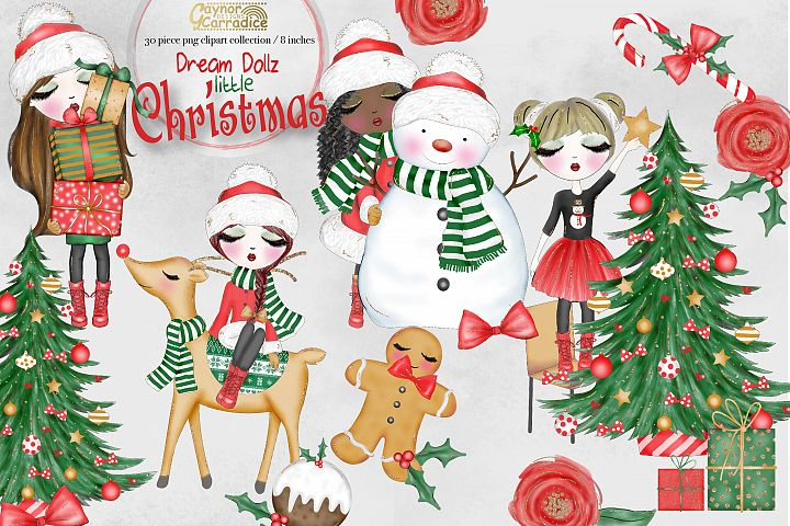 Dream Dollz- cute Christmas Clipart