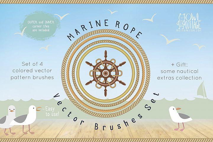 Marine Rope Pattern Brushes Set