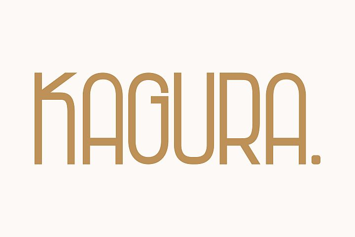 Kagura | Uniqe Sans Serif Fonts