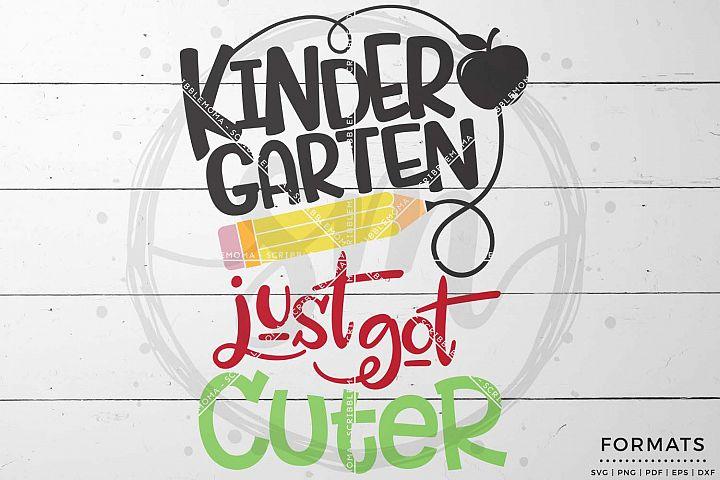 Kindergarten Just Got Cuter