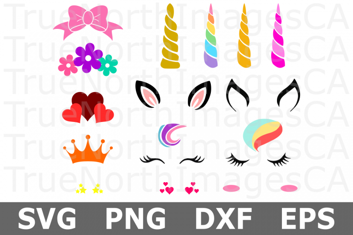 Make Your Own Unicorn SVG Bundle - Unicorn Pieces