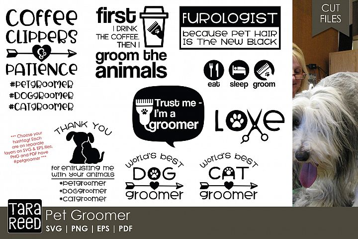 Pet Groomer SVG and Cut Files for Crafters