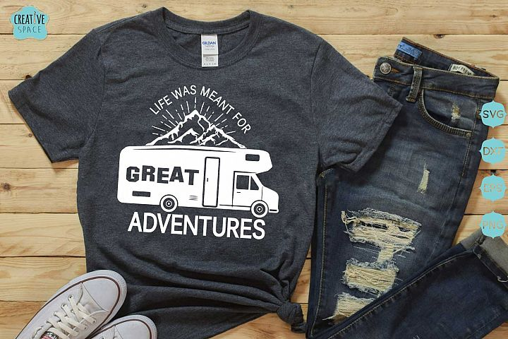 Camping Svg, Great Adventures svg