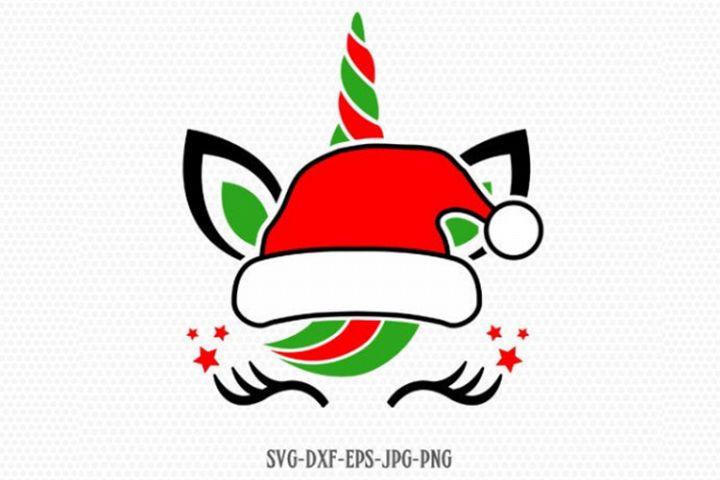 Christmas santa Unicorn Svg, Unicorn Svg, Christmas svg