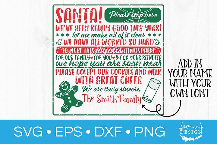 Santa Sign SVG Christmas Sign SVG Vintage Sign SVG Santa SVG