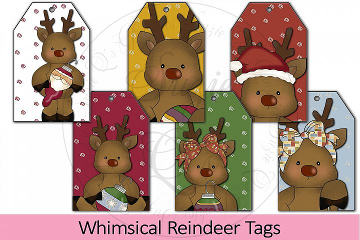 Whimsical Reindeer Tags