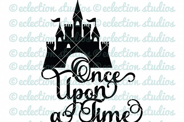 Cake Topper SVG, Once Upon A Time, Princess Castle, Fairytale theme