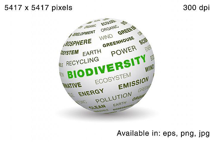 3d globe - Biodiversity