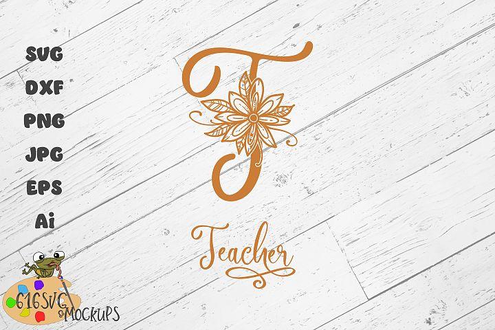 Teacher Monogram SVG