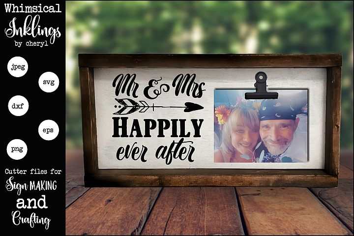 Mr and Mrs Wedding SVG