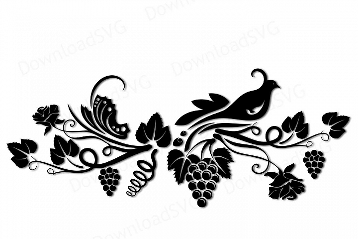SVG and PNG cutting files, Fantasy Garden, Clipart, Vector