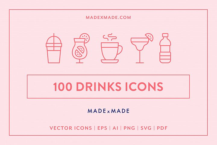 Line Icons - Drinks