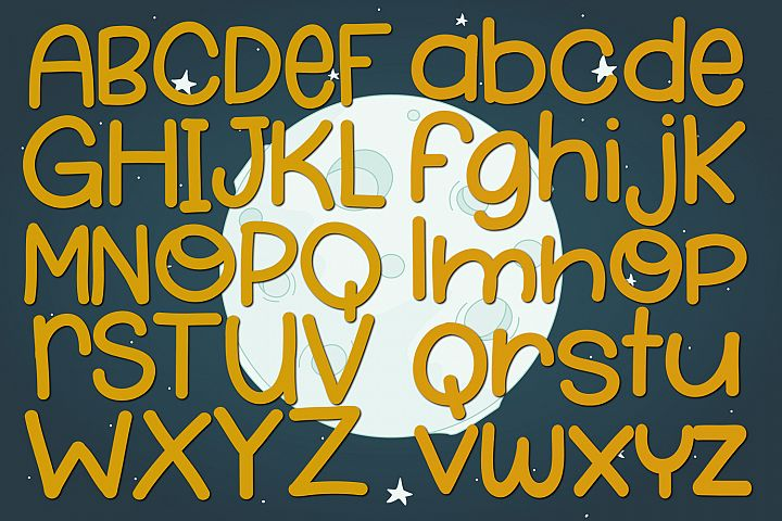 Moondust - Free Font of The Week Design0