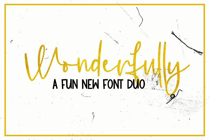 Wonderfully - A Fun New Font Duo