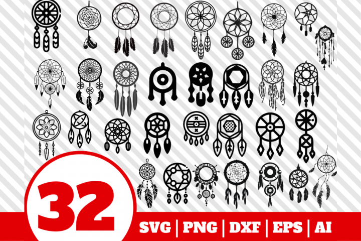 32 Dreamcatcher bundle svg - Dreamcatcher svg - Dreamcatcher