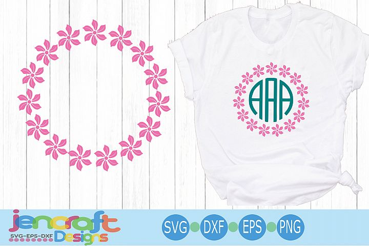 Rose monogram Frame SVG, Roses Monogram Frame SVG