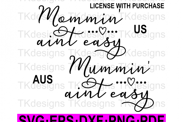 Mommin aint easy SVG Mom quote Mum SVG
