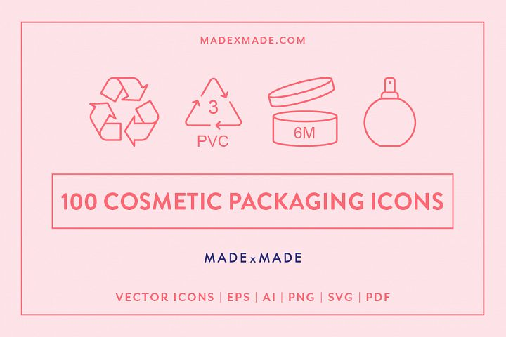 Line Icons - Cosmetic Packaging