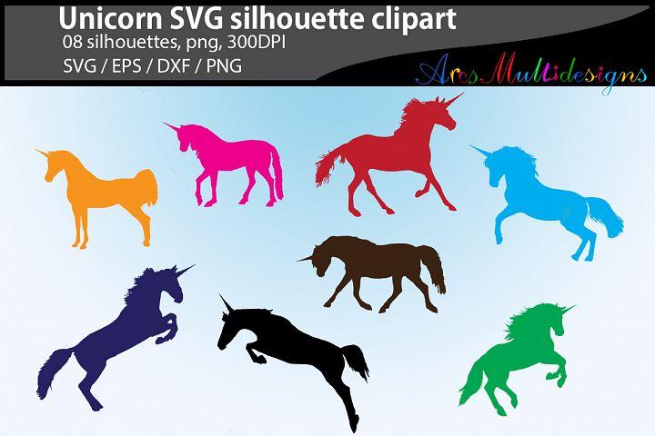 unicorn silhouette svg / 08 clipart unicorn / mare horse unicorn / color digital files / EPS / SVG / Png / printable / cricut