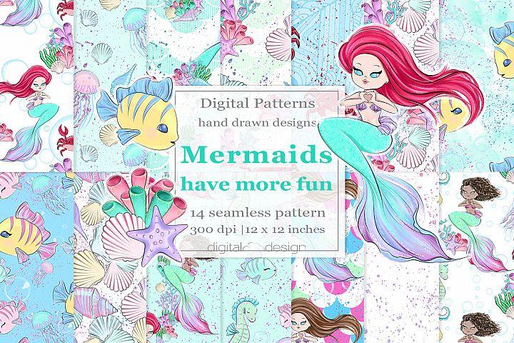 Mermaids Have More Fun - Digital Pattern