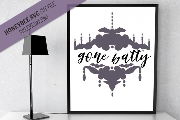 Gone Batty SVG Halloween Cut file for Cricut and Silhouette